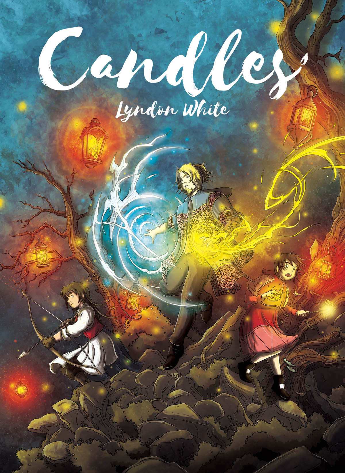 Cover image for fantasy graphic novel Candles by Lyndon White