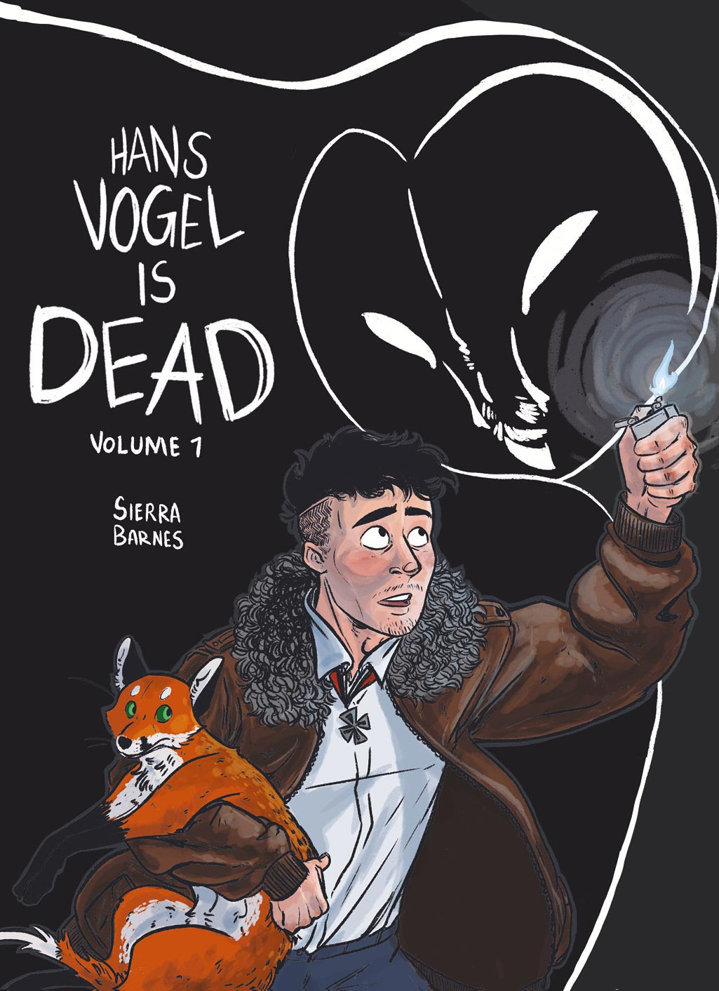 Cover to graphic novel Hans Vogel is Dead Volume 1 by Sierra Barnes